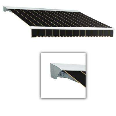 18 ft. LX-Destin with Hood Right Motor/Remote Retractable Acrylic Awning (120 in. Projection) in Black Pin
