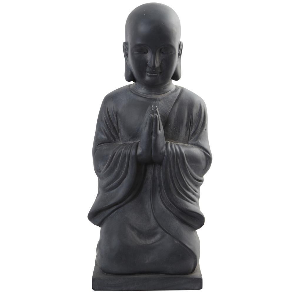Clay 25.5 in. Round Buddha Statue