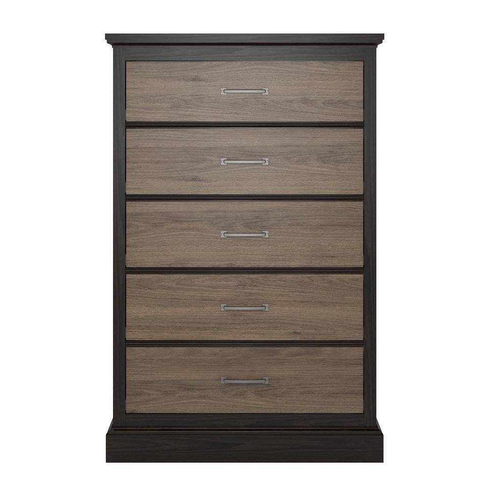 Noel 5-Drawer Rustic Oak Dresser