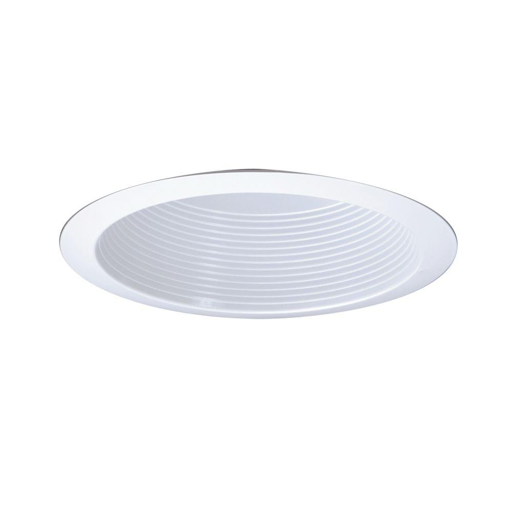 All-Pro 6 in. Gloss White CFL Recessed Ceiling Light Reflector Baffle and Trim