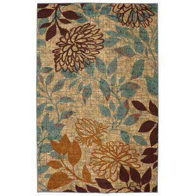 Bella Garden Multi 5 ft. x 8 ft. Printed Outdoor Patio Area Rug