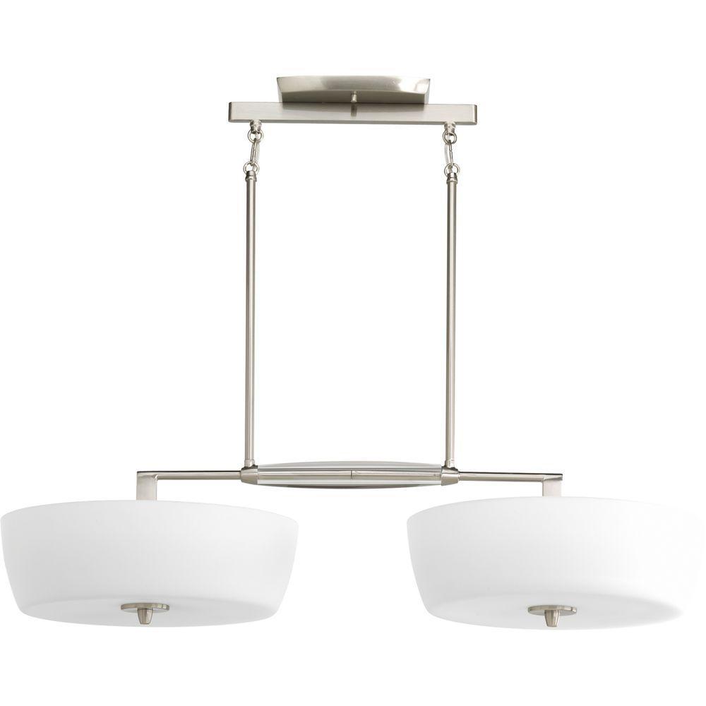 Progress Lighting Divot Collection 4-Light Brushed Nickel Chandelier