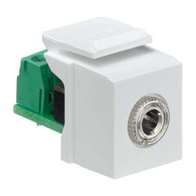 QuickPort 3.5 mm Stereo Connector Female to Screw Terminal, White