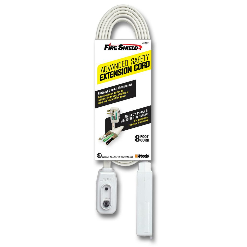 Southwire 8 ft. 16/3 Multi-Outlet (3) Indoor Extension Cord with ...