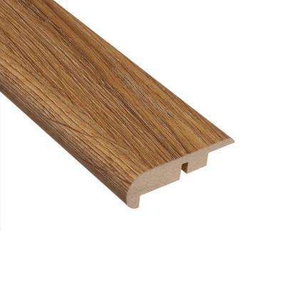 Palace Oak Light 7/16 in. Thick x 2-1/4 in. Wide x 94 in. Length Laminate Stairnose Molding