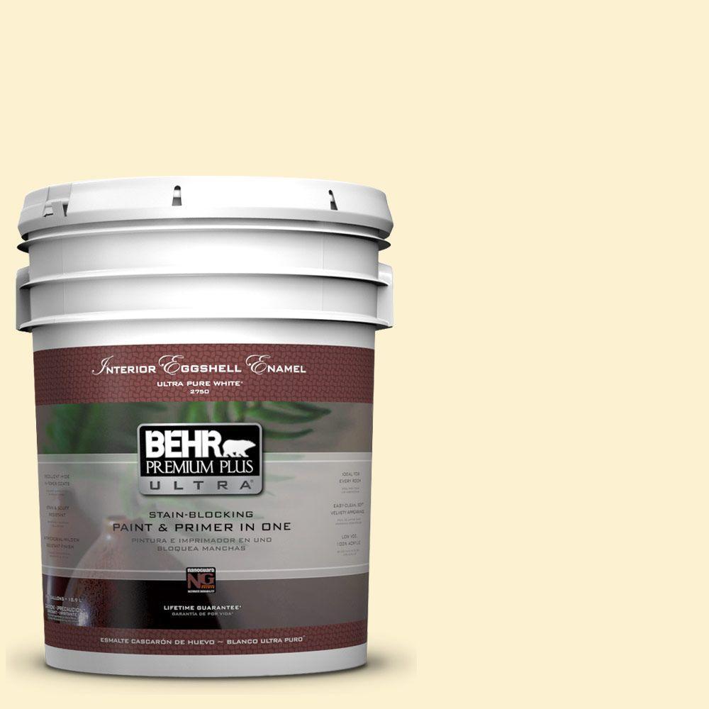 BEHR Premium Plus Ultra 5-gal. #P280-1 Summer Bliss Eggshell Enamel Interior Paint