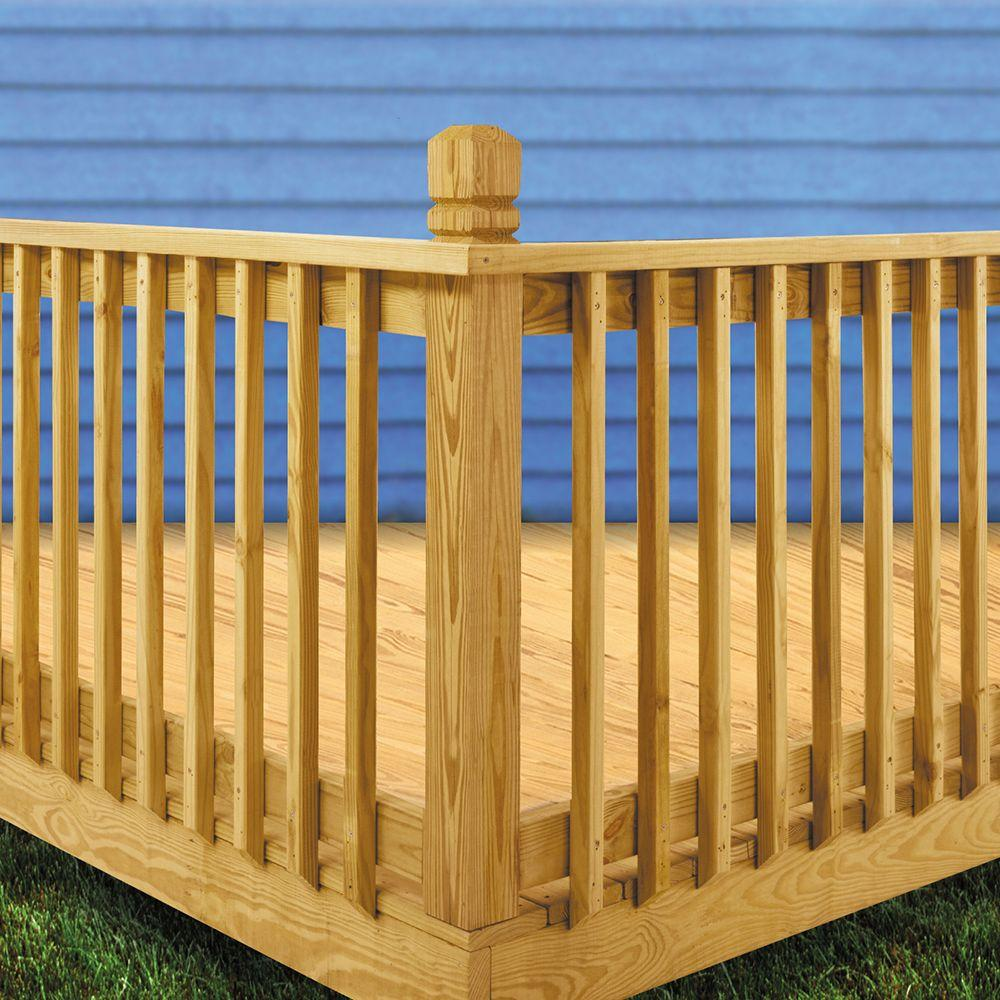 Weathershield 42 In X 2 In Pressure Treated Beveled 1 End Baluster 430400 The Home Depot