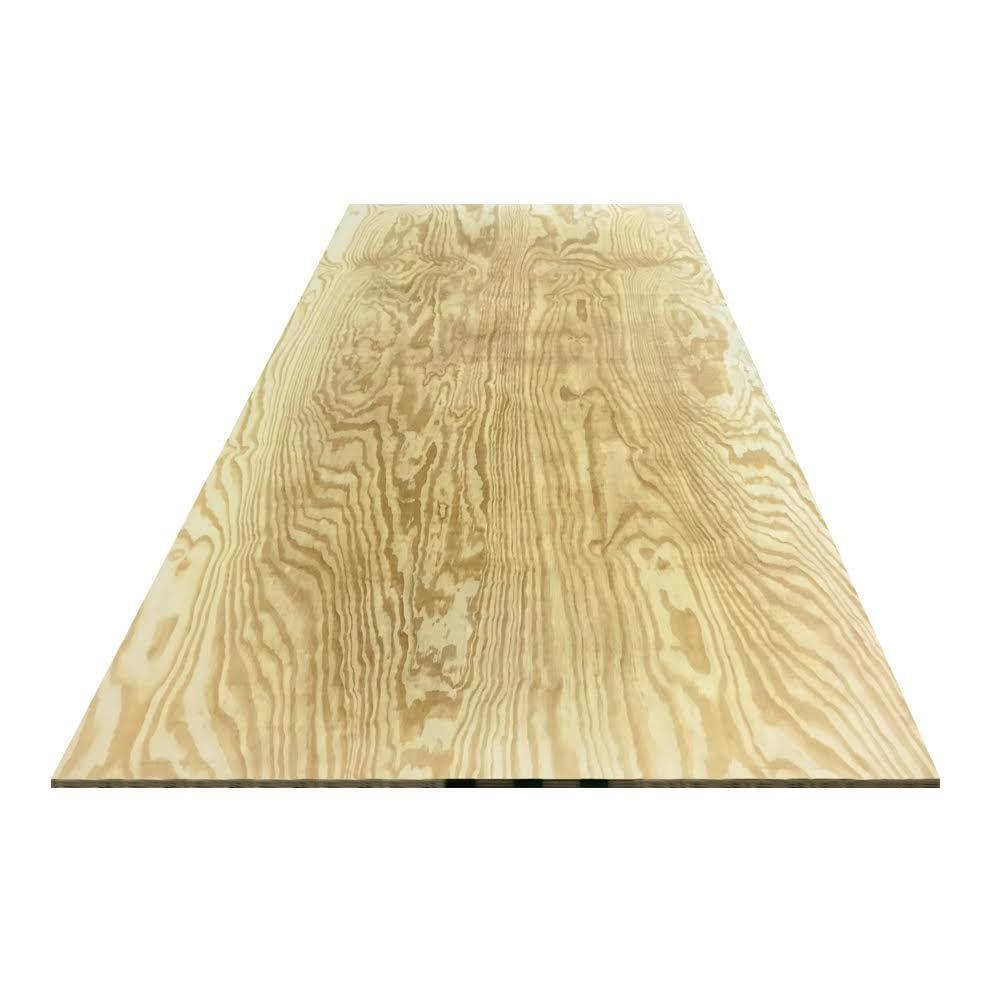3 4 In X 4 Ft X 8 Ft Ground Contact Southern Yellow Pine Pressure Treated Plywood Ply34mgycdx The Home Depot