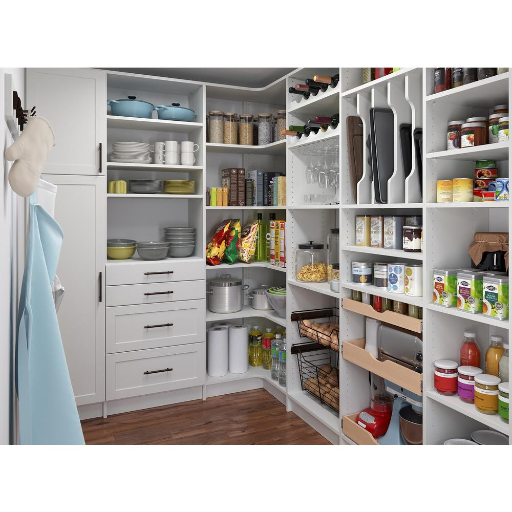 The Home Depot Installed Pantry Organization System Keeping your pantry organized can be a challenge without the necessary tools. No matter what part of your home needs organizing, The Home Depot has the perfect custom shelving and organization solutions for you. During an in-home consultation, we help you choose the right styles, colors and accessories to fit your needs. De-clutter with confidence knowing that any product you select, along with our expert installation, is 100% backed by The Home Depot.