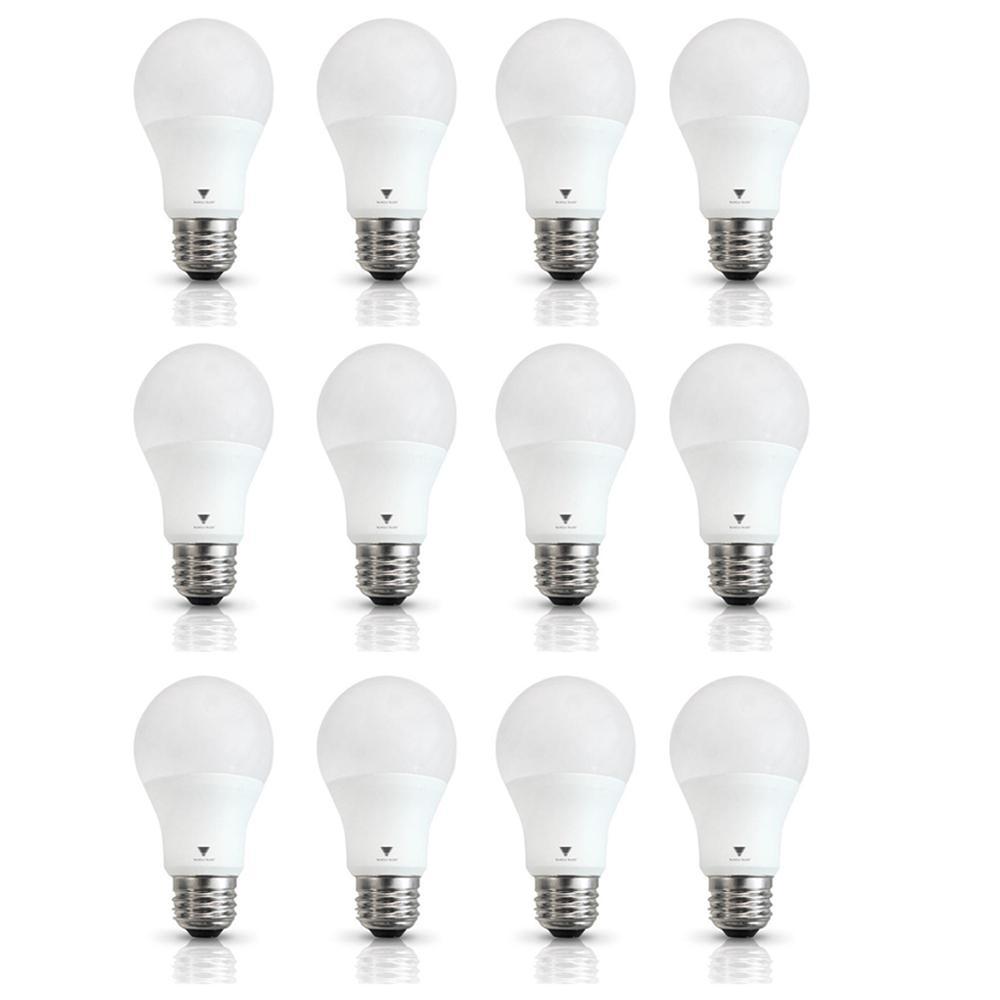 Triglow 60-Watt Equivalent A19 800-Lumen E26 Base LED Light Bulb Soft White (12-Pack)