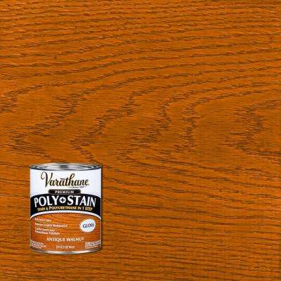 1 qt. Antique Walnut Gloss Oil-Based Interior Stain and Polyurethane