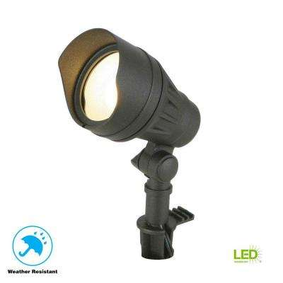 Low-Voltage 50-Watt Equivalent Black Outdoor Integrated LED Landscape Flood Light