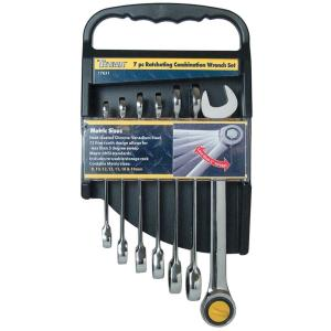 TITAN 7-Piece Ratcheting Metric Combination Wrench Set by TITAN