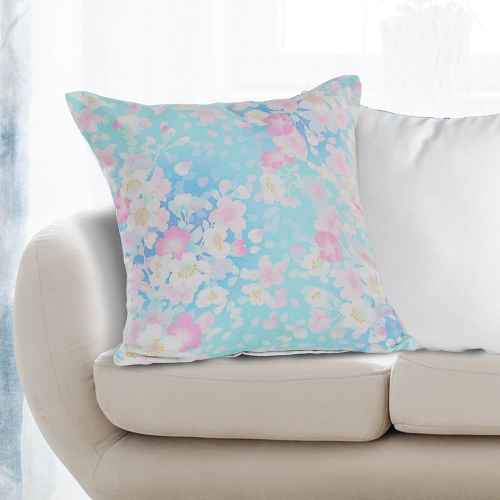 LR Resources Fresh Floral Fantasy Blue and Pink Floral