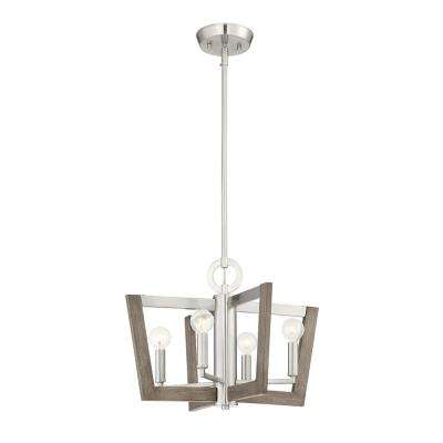 Westend 4-Light Satin Platinum Interior Chandelier