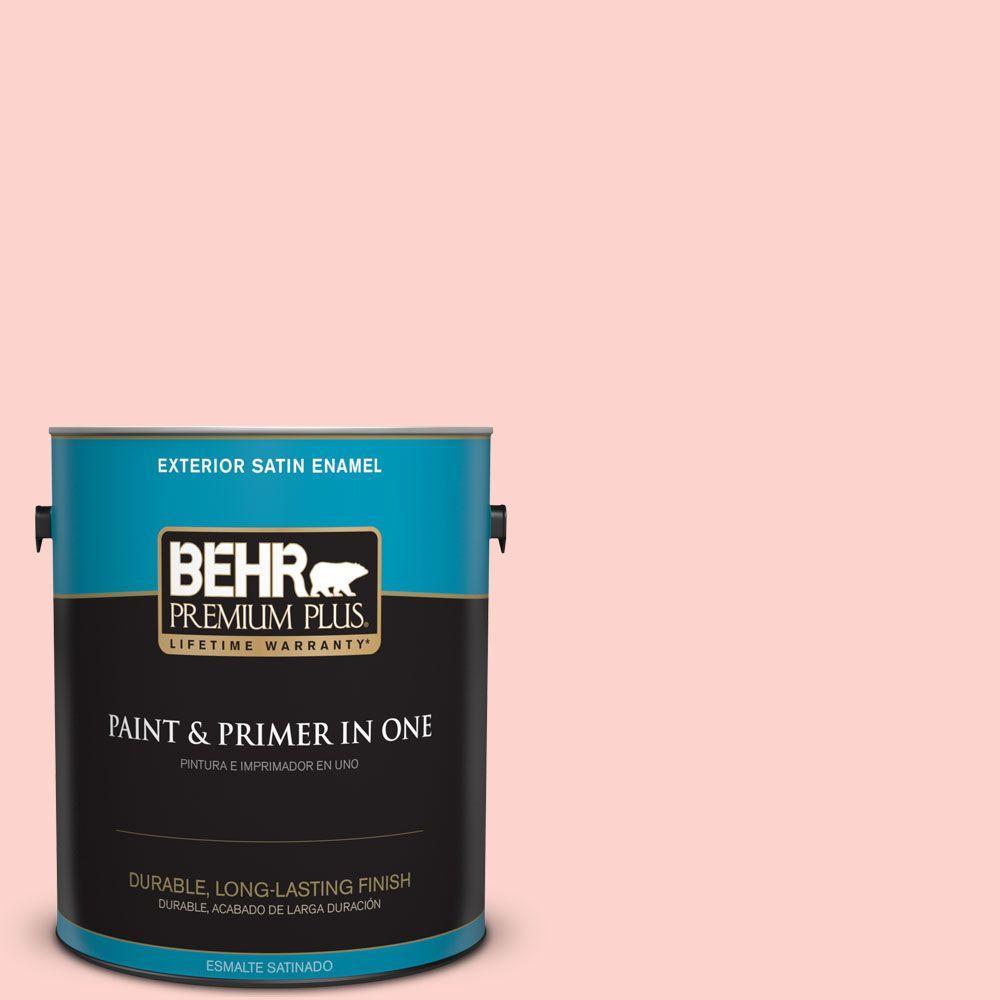BEHR Premium Plus 1-gal. #190A-2 Coral Mantle Satin Enamel Exterior Paint