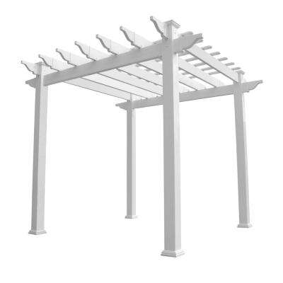 Royal 96 in. x 88 in. White Vinyl Pergola
