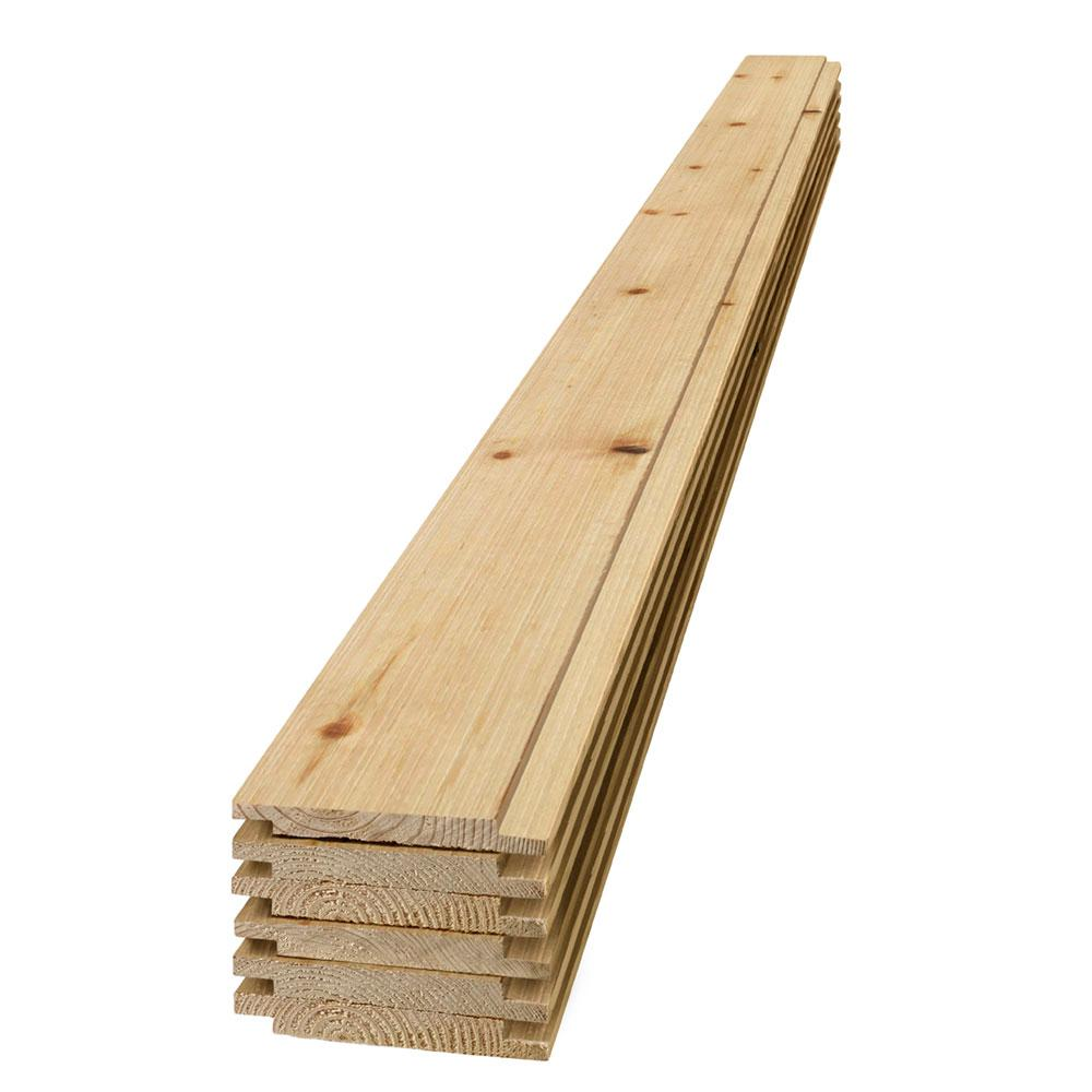 UFP-Edge 1 in  x 6 in  x 6 ft  Barn Wood Brite Shiplap Spruce/Pine/Fir  Board (6-Pack)