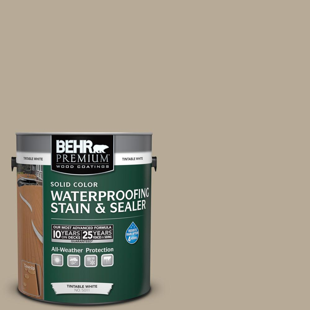 1 gal. #N310-4 Desert Khaki Solid Waterproofing Stain and Sealer