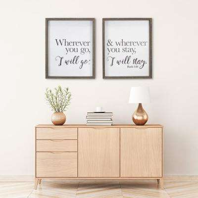 """Where You Go"" Duo by KDM Framed Printed Wall Art"
