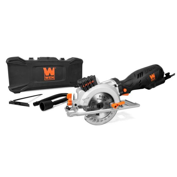 5 Amp 4-1/2 in. Beveling Compact Circular Saw with Laser and Carrying Case
