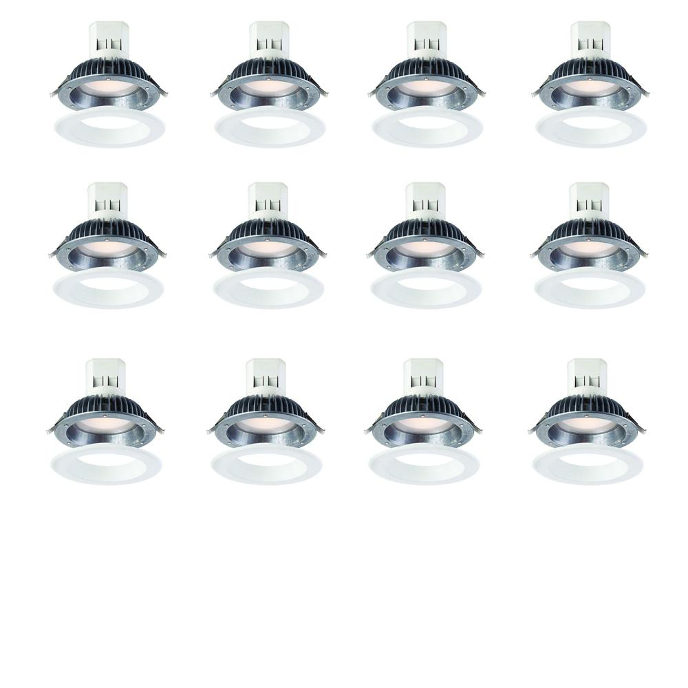 EnviroLite Easy Up 6 in. Warm White LED Recessed Light with 93 CRI, 3000K J-Box (No Can Needed) (12-Pack)