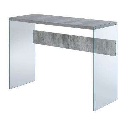 SoHo Faux Birch and Glass Console Table
