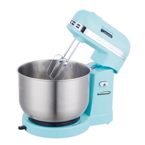 3 Qt. 5-Speed Blue with Stainless Steel Mixing Bowl Stand Mixer