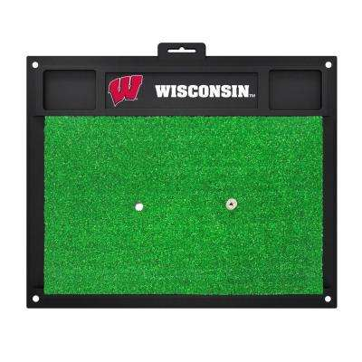 NCAA University of Wisconsin 17 in. x 20 in. Golf Hitting Mat