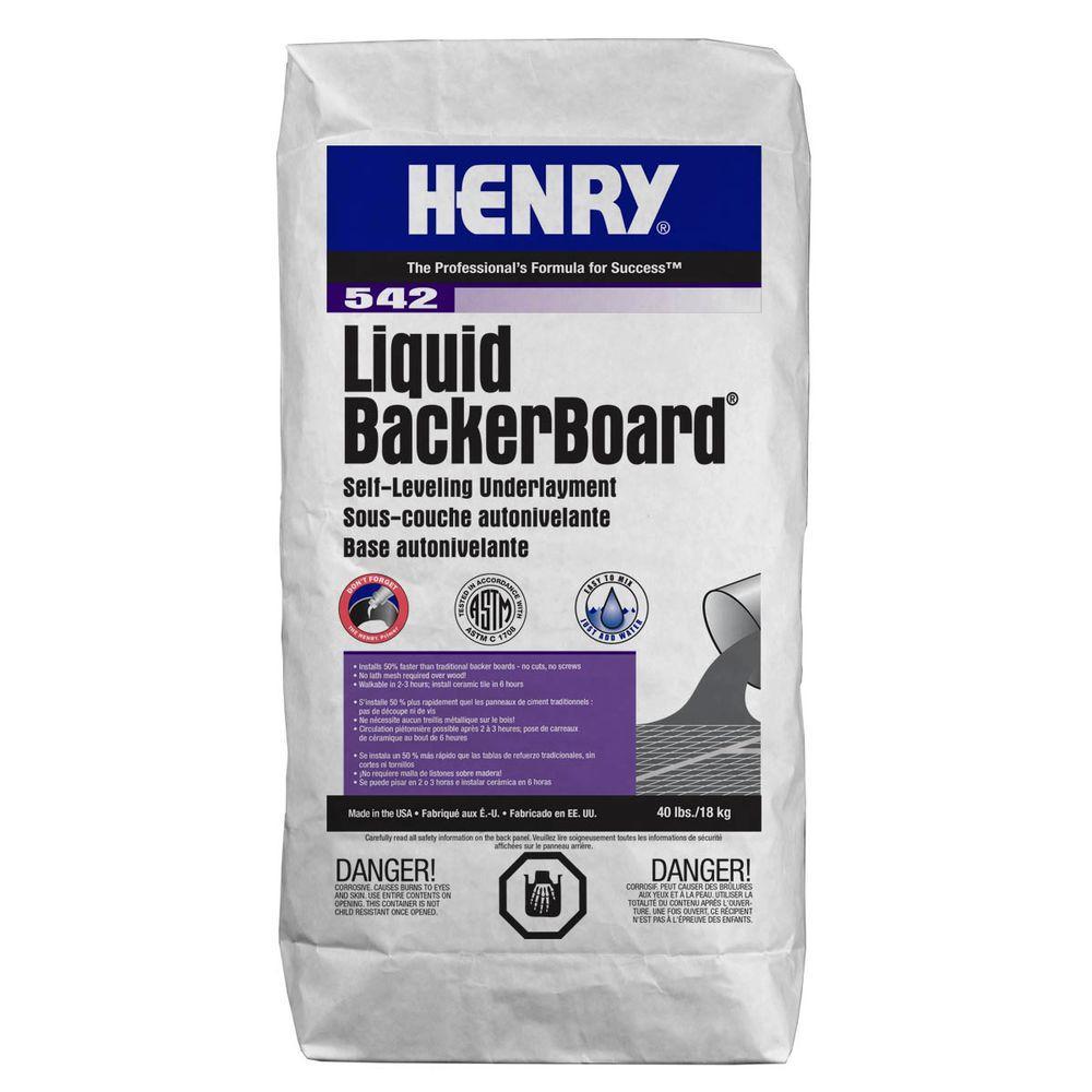 Henry 542 Liquid Backer Board 40 lbs. Self-leveling Under...