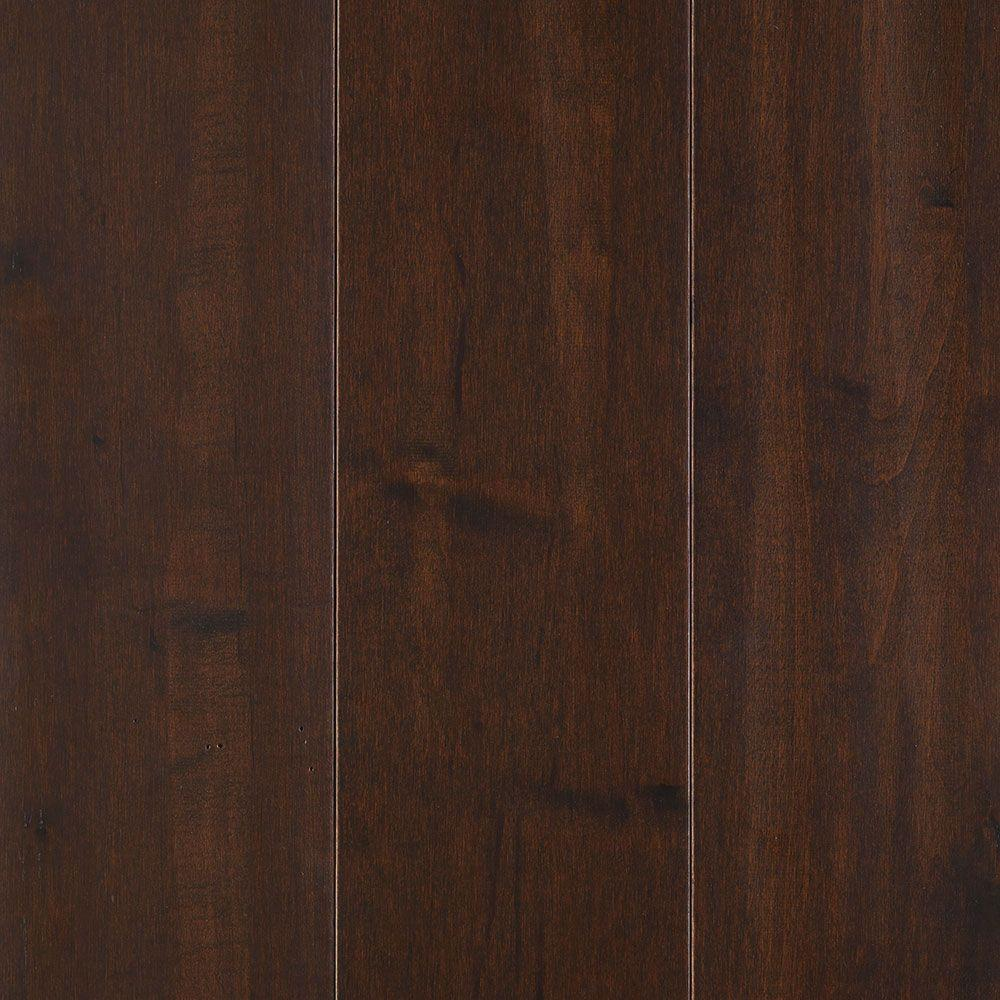 Mohawk yorkville dark chocolate maple 3 4 in thick x 5 in for Dark solid hardwood floors
