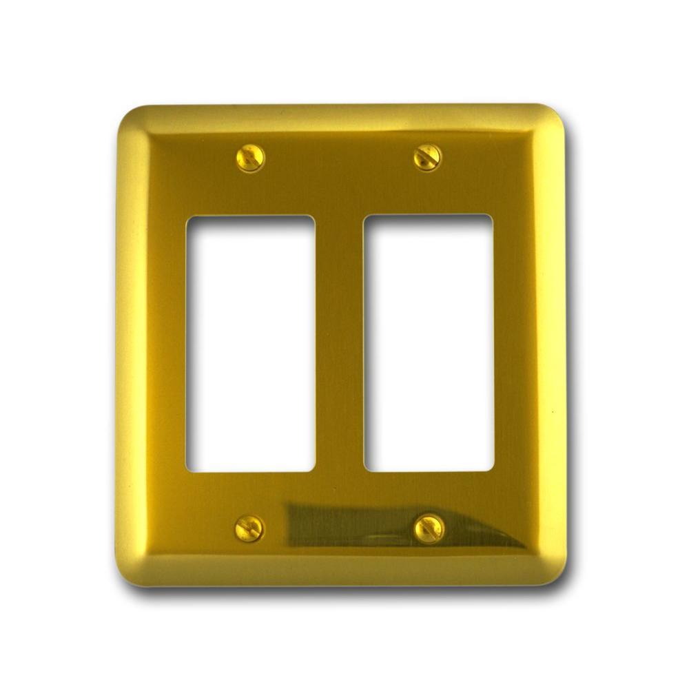 Steel 2 Decora Wall Plate - Bright Brass