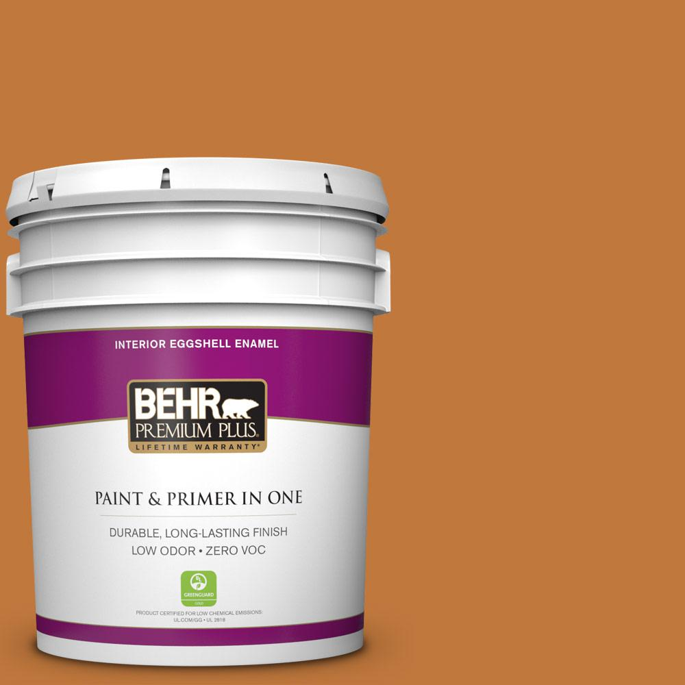 5 gal. #270D-7 Fall Leaves Zero VOC Eggshell Enamel Interior Paint