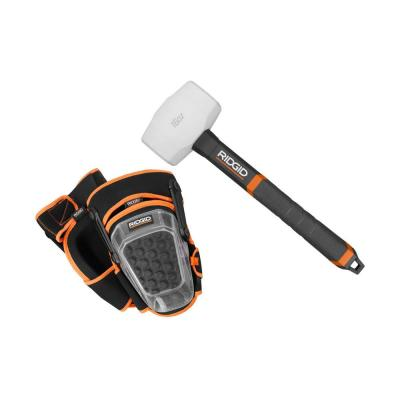 16 oz. Rubber Mallet with Pro-Hinge Stabilizing Knee Pads