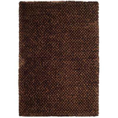 Saint Tropez Shag Chocolate 5 ft. x 8 ft. Area Rug