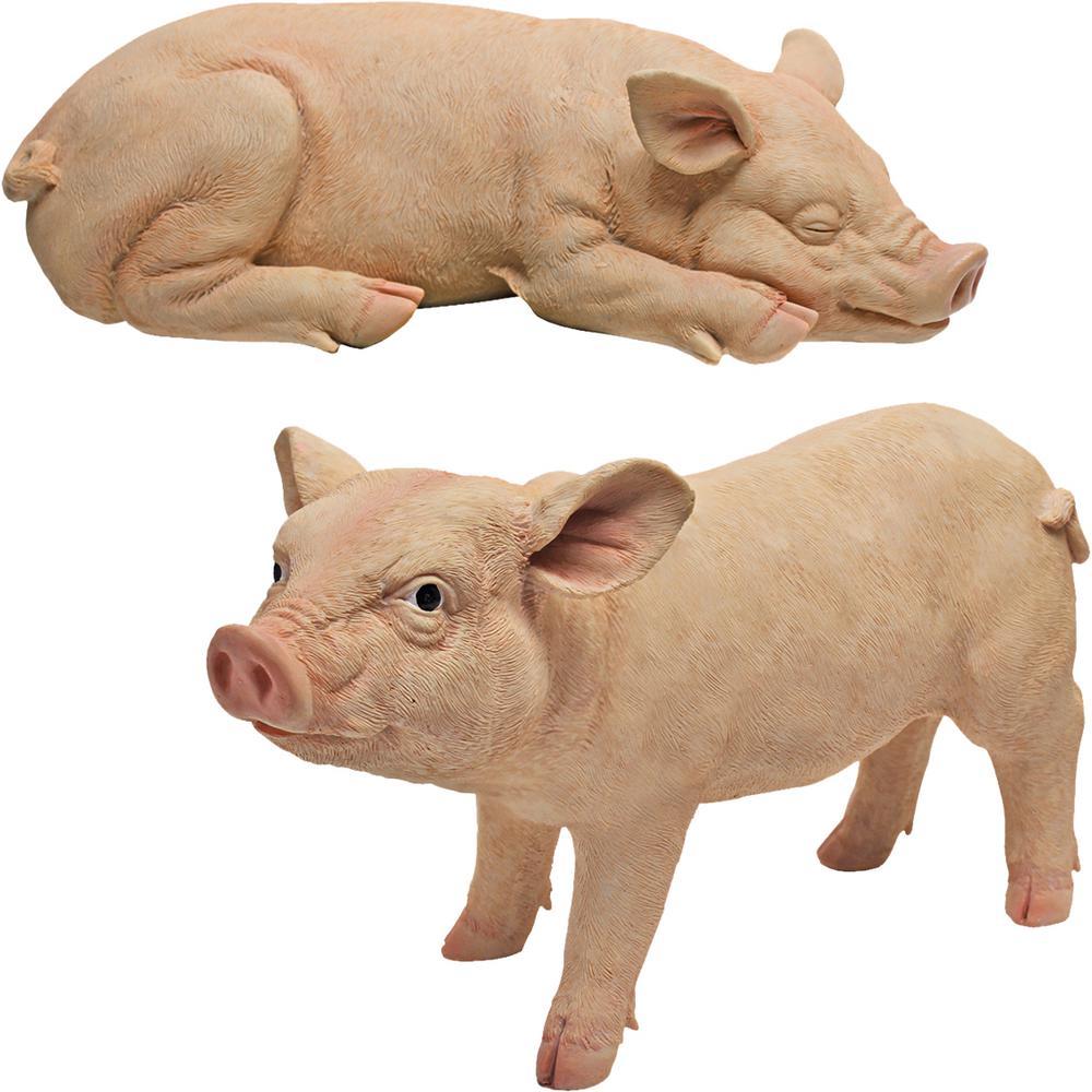 Sandman and Porker Piggy Garden Statue Set (2-Piece)