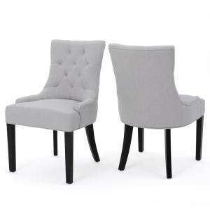 Hayden Light Grey Fabric Dining Chair (Set of 2)