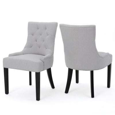 Hayden Light Grey Fabric Dining Chair Set Of 2