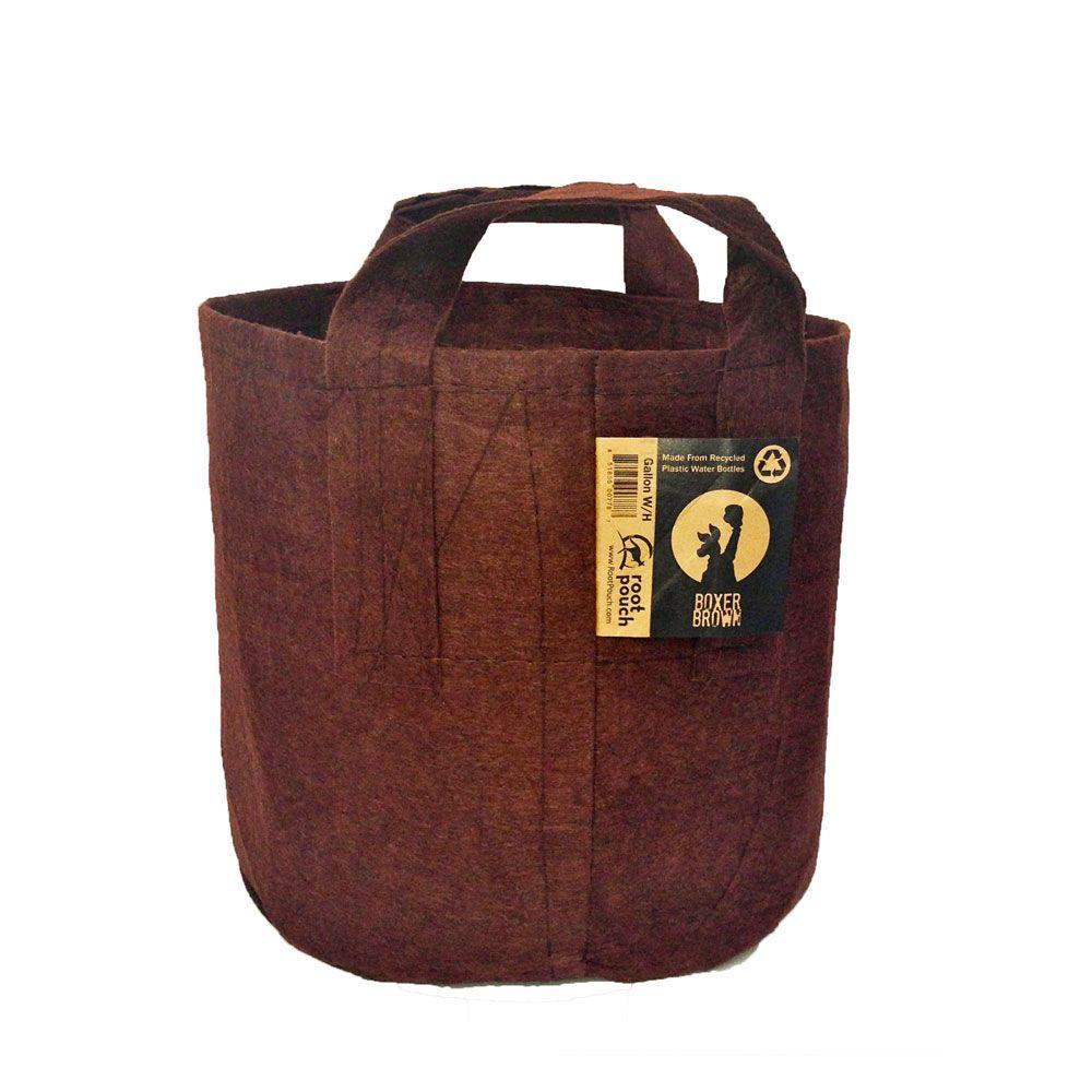 Root Pouch 10 gal. Boxer Brown Fabric Pot with Handles (5-Pack)-DISCONTINUED