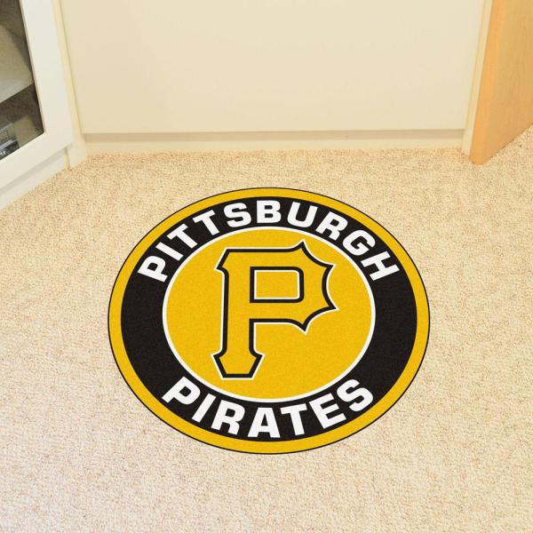 FANMATS MLB Pittsburgh Pirates Nylon Face Carpet Car Mat