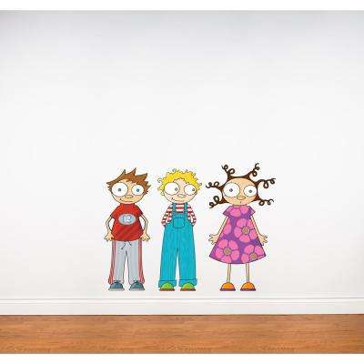 (39 in x 28 in) Multi-Color  Eliot Ludo and Lou  sc 1 st  Home Depot & Kids - Wall Decals - Wall Decor - The Home Depot