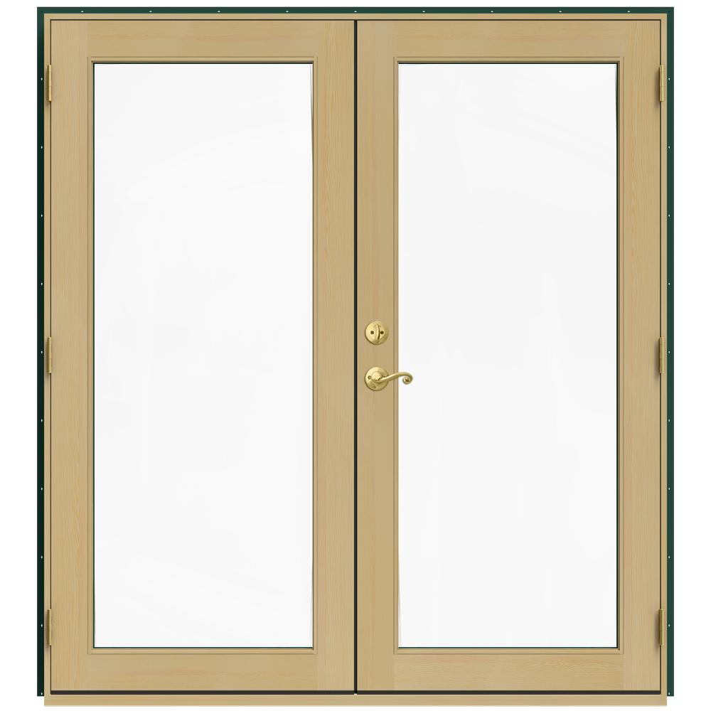 Jeld Wen 72 In X 80 In W 2500 Green Clad Wood Left Hand