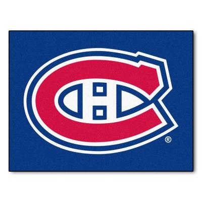 NHL Montreal Canadiens Blue 3 ft. x 4 ft. Indoor All Star Area Rug