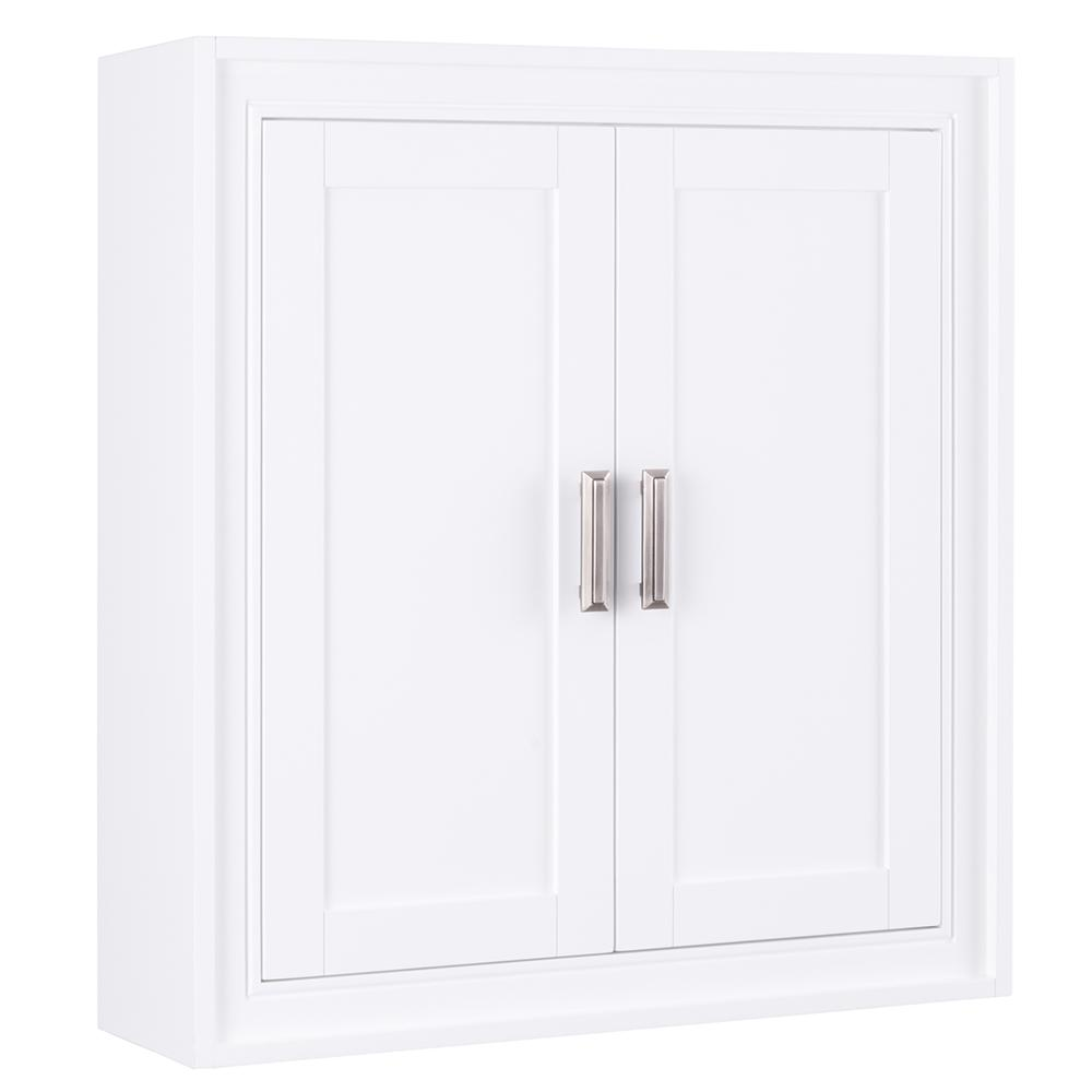 Home Decorators Collection Shaelyn 26 In W X 28 H Wall Cabinet White