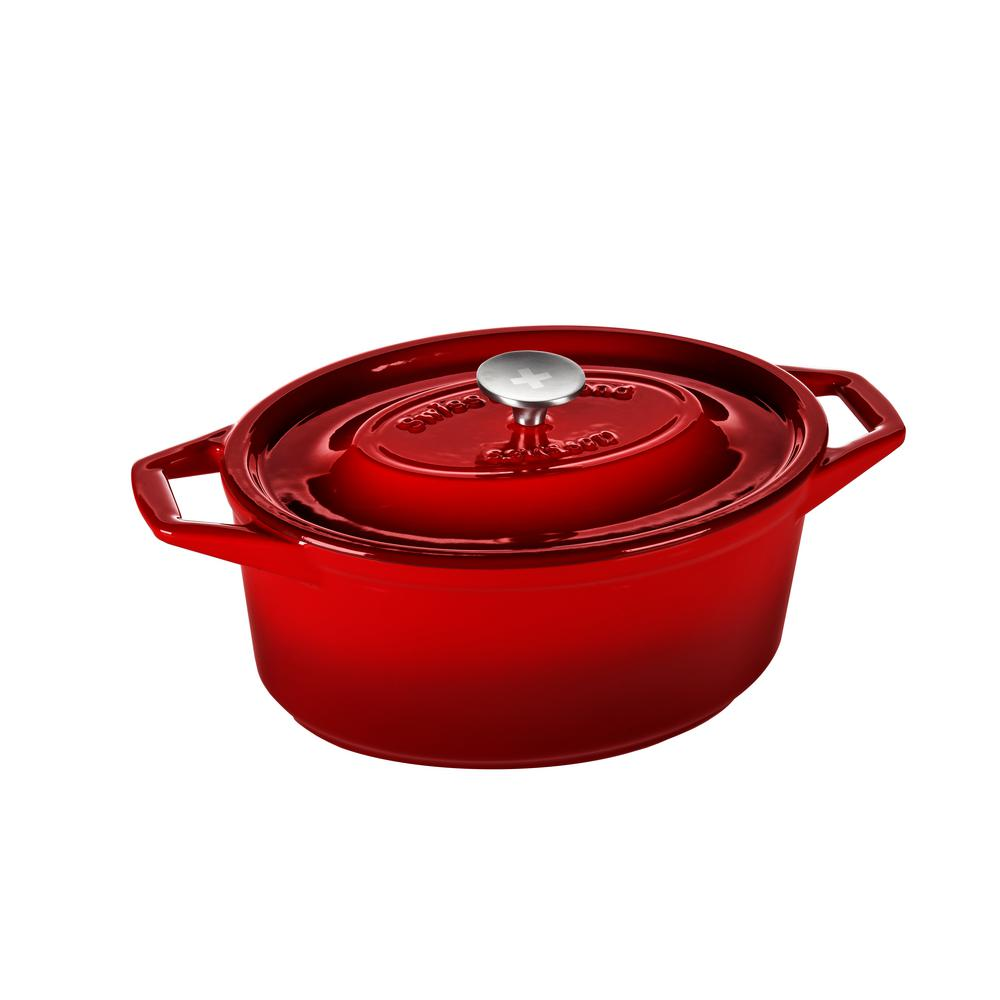 5.6 Qt. Oval Casserole in Rubis Rouge