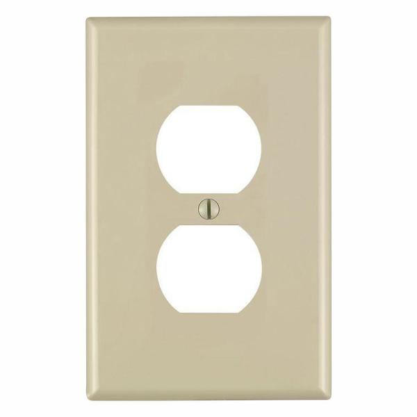 1-Gang Ivory Midway Duplex Outlet Nylon Wall Plate (10-Pack)