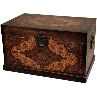 Oriental Furniture 18.5 in. x 10.75 in. Olde-Worlde Baroque Storage Box