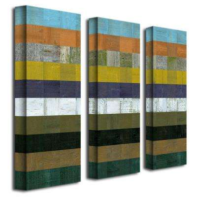 Wooden Abstract I by Michelle Calkins 3-Panel Wall Art Set