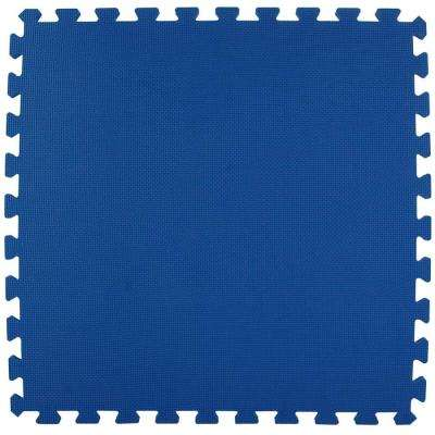 Economy Foam Blue 2 ft. x 2 ft. x 1/2 in. Interlocking Puzzle Floor Tiles (Case of 20)