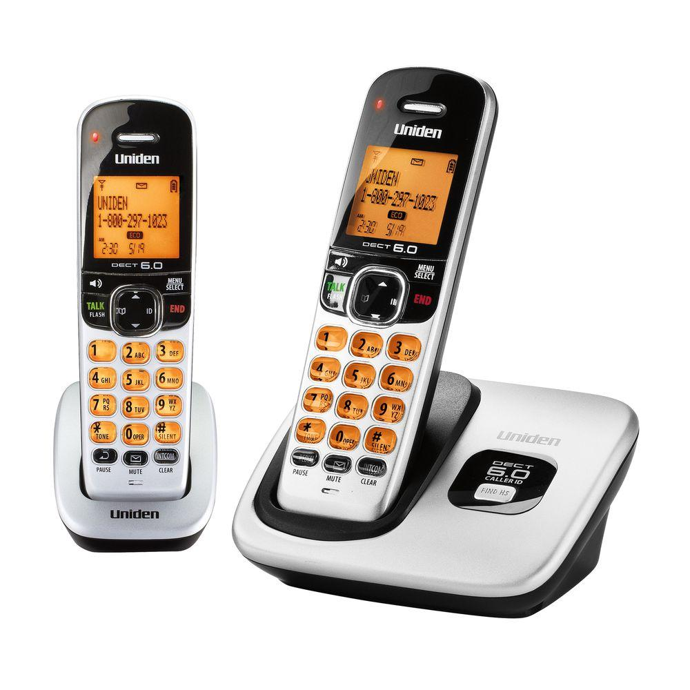 Uniden 2 Handset DECT 6.0 Cordless Phone with Caller ID-DISCONTINUED